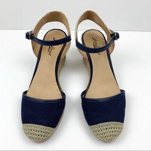 Lucky Brand Kerol Canvas Wedge espadrille sandals